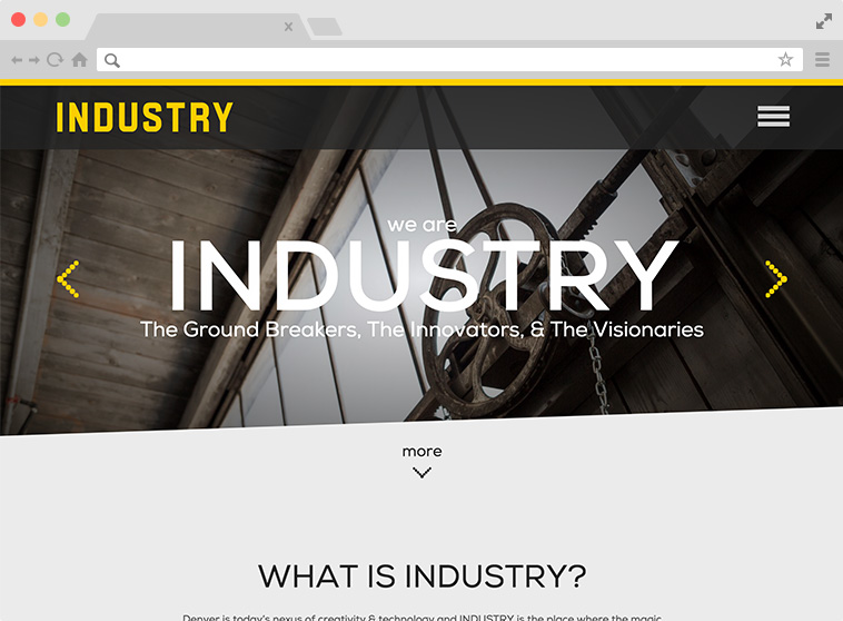Industry Website Screenshot.